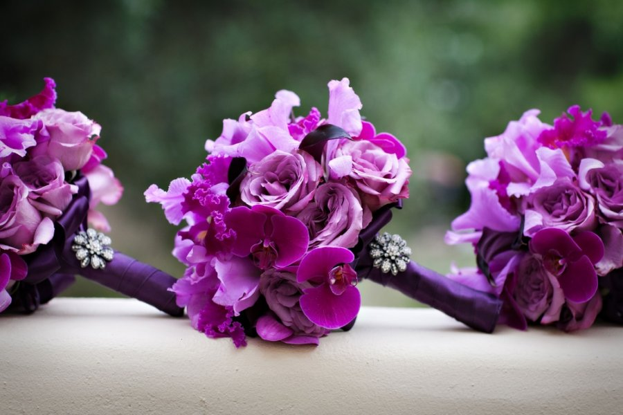 صور اجمل بوكيه ورد موف , باقة من الورد الموف الجميل