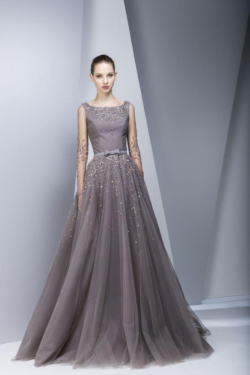 صورة فساتين سهره هاديه , احدث صيحات في الفساتين السواريه العصريه
