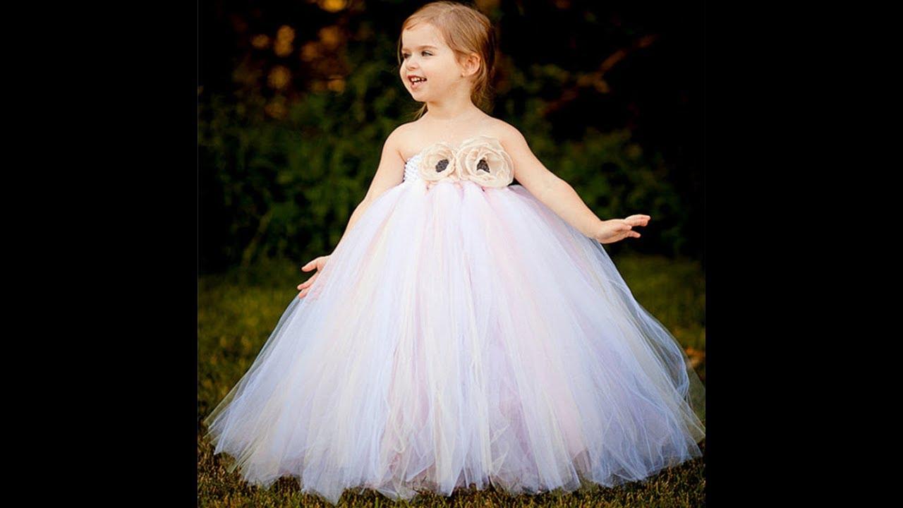 صورة فساتين الاعراس للاطفال , احدث تصميمات جديده لفساتين زفاف للاطفال