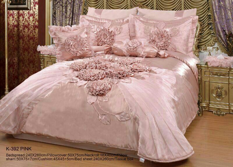 صور مفارش سرير للعروسة , اشكال مختلفه وجديده لمفارش سرير العرسان