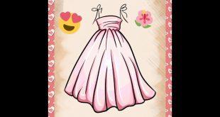 صورة رسم فستان حوامل , صممي فستان للحامل بخطوات بسيطة وسلهة