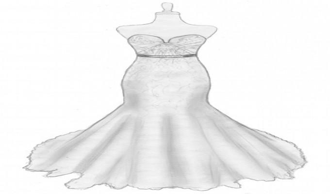 بالصور رسم فستان حوامل , صممي فستان للحامل بخطوات بسيطة وسلهة 2964 6