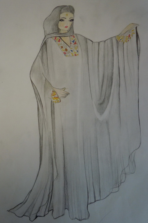 بالصور رسم فستان حوامل , صممي فستان للحامل بخطوات بسيطة وسلهة 2964 9