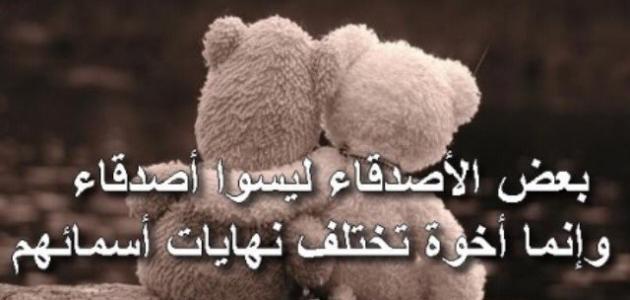 صور خواطر عن الصديق الوفي , صديقي يا سندي في الحياه احبك كثيرا