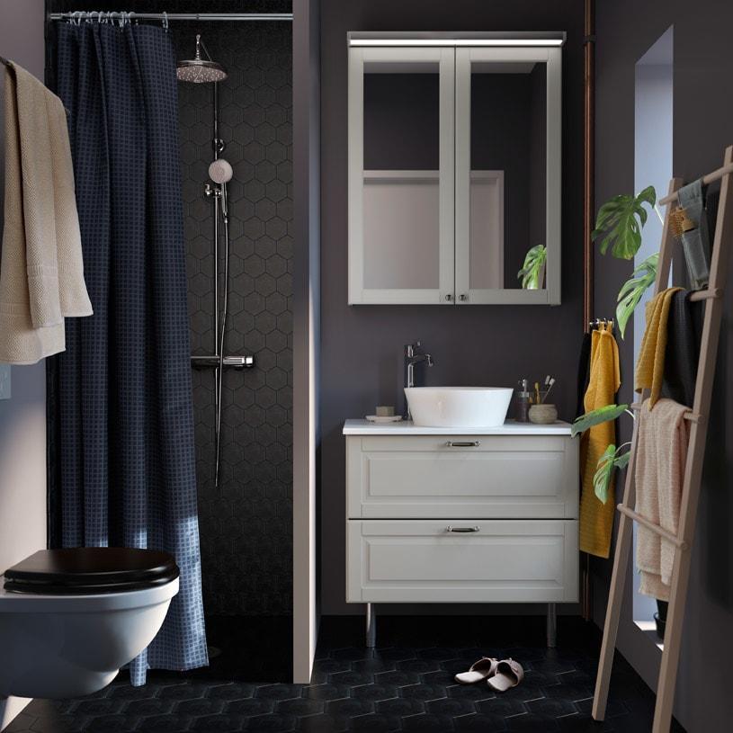صورة اكسسوارات للحمام من ايكيا , خزائن الحمام واكسسوراتها