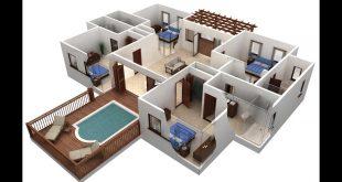 صورة تصميم منازل 3d , خليفيات متنوعة لبيوت 3d