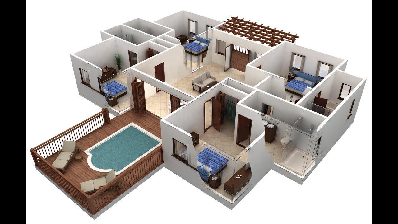 صور تصميم منازل 3d , خليفيات متنوعة لبيوت 3d