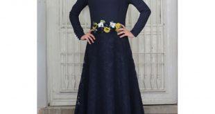 صورة فستان كحلي طويل , صور لفساتين لونها كحلي