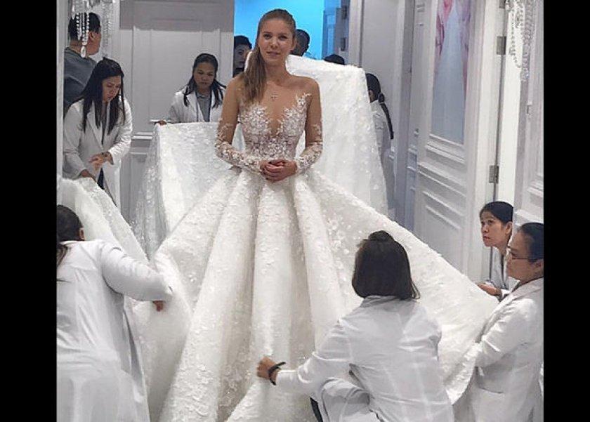 صورة تصميم فستان زفاف , اجمل صور لفساتين الافراح