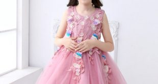 صور فساتين سواريه للاطفال , اجمل السهرات مع تشكيلات لفساتين الافراح