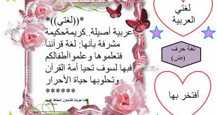 صورة موضوع عن اللغة العربية الفصحى , لغتنا الجميله العربيه بالفصحى