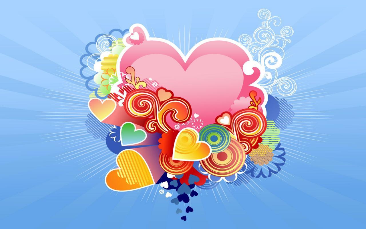بالصور خلفيات قلوب للكمبيوتر , صور لاجمل قلوب علي الاب توب 3172 6