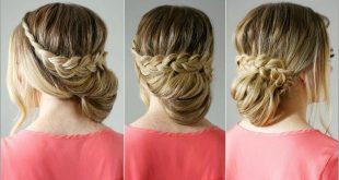 صورة تسريحات شعر قصير للمناسبات بسيطة , اجمل قصة شعر ليس طويل