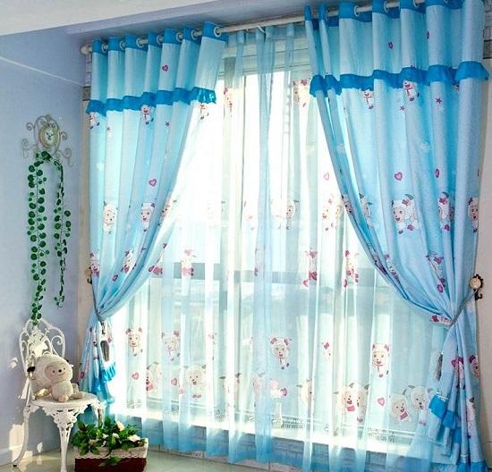 صور ديكورات ستائر غرف نوم اطفال , ارقي الستائر العصريه لغرف نوم الاطفال