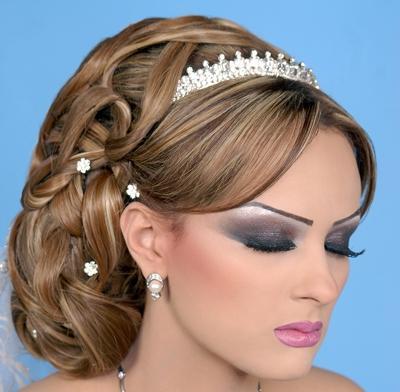 صورة تسريحات عرائس جزائرية , تسريحات جزائريه علي الموضه للعرائس