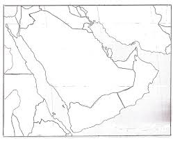 خريطة صماء لشبه الجزيرة العربية موقع الجزيره علي الخريطه والوانها المتعدده في رسم الخريطه رهيبه