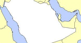 صور خريطة صماء لشبه الجزيرة العربية , موقع الجزيره علي الخريطه والوانها المتعدده في رسم الخريطه