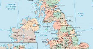 صورة خريطة المملكة المتحدة , خرائط توضيحه لتقسيمات بريطانيا