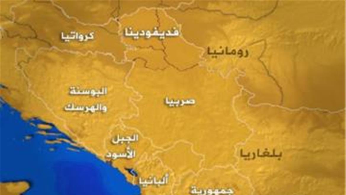 صورة خريطة دول البلقان , موقعها الجغرافي المتميز