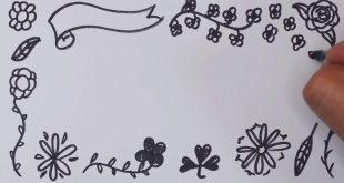 صور رسم اطارات على الورق , اطارات جميله على الورق