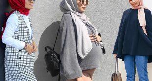 صور لبس الحوامل للمحجبات , ملابس الحامل بالحجاب
