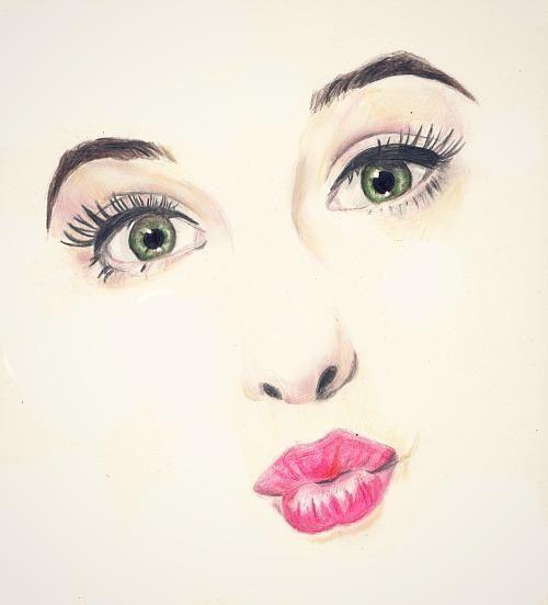 صورة صور نساء مرسومة , رسومات مختلفه وجميله جدا جنان
