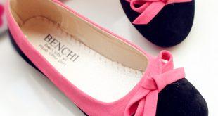 صورة احذية فلات بناتية , احذية عملية للبنات