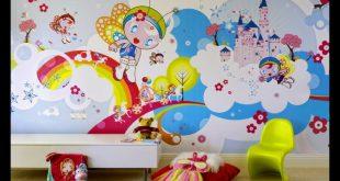 صورة ورق حائط غرف اطفال , احدث ورق حائط لديكور غرف الاطفال
