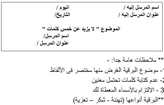 صورة طريقة كتابة البرقية , تعلم كتابة البرقية بالخطوات