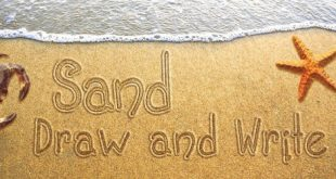 صورة كتابة الاسم على الرمل , ميز نفسك عن اصدقاء