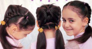 صورة تسريحات للشعر الطويل للاطفال , اجعلي رونق شعر طفلتلك جذاب