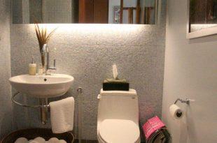 صورة اصغر مساحة للحمام , تصميمات اضغر الحمامات بطريقة مبدعة