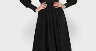 صورة اختاري فستان محتشم وفي نفس الوقت علي الموضة, موديلات فساتين ساتره وناعمه