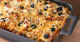 صورة اجدد انواع الاكلات , طريقة مكرونة البيتزا