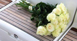 صورة رسائل الورد , بوكية ورد ابيض